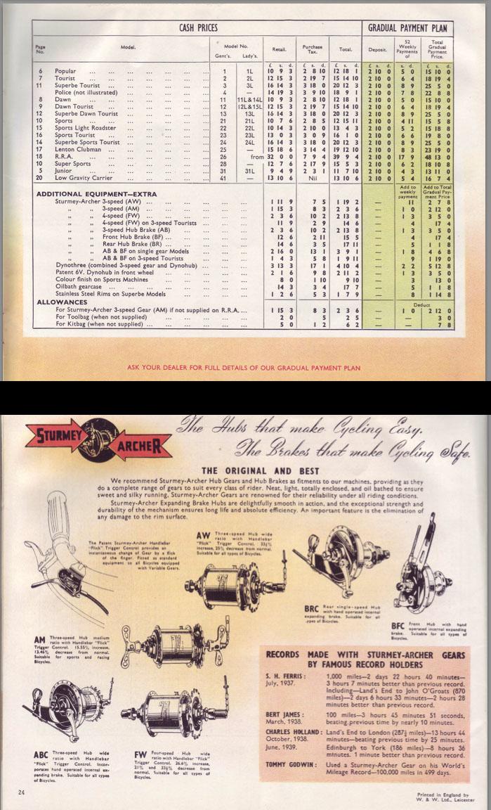 1947 Raleigh catalogue 8