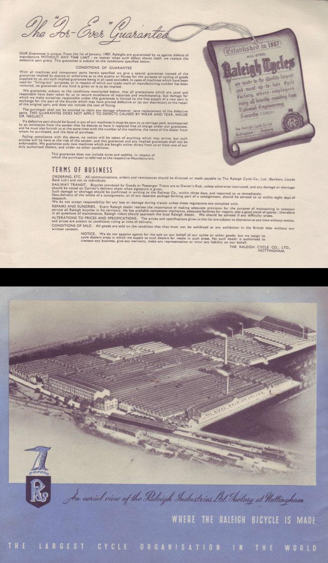 1947 Raleigh catalogue 9