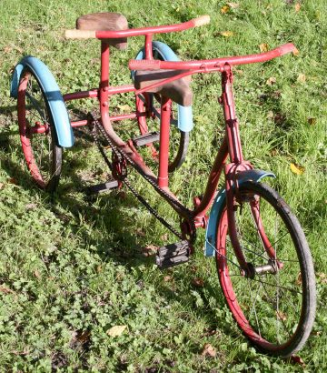 1950s tandem tricycle 05