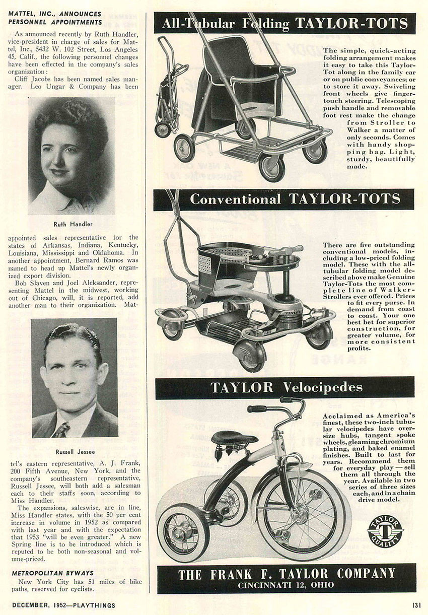1952 taylor tots velocipedes