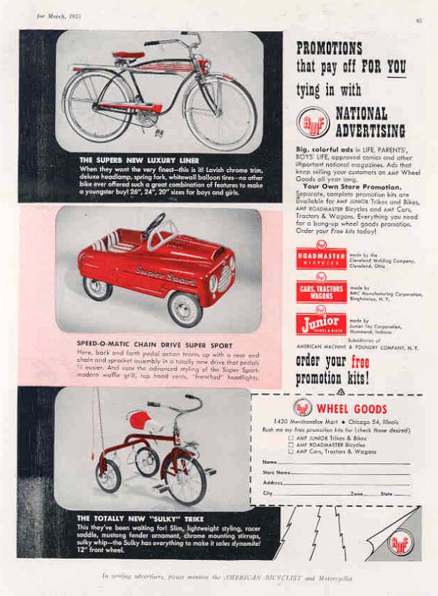 1955 JUNIOR SULKY TRICYCLE