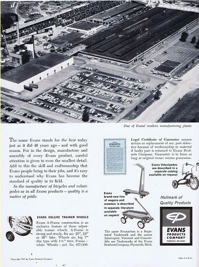 1961 EVANS PRODUCTS Plymouth Michigan