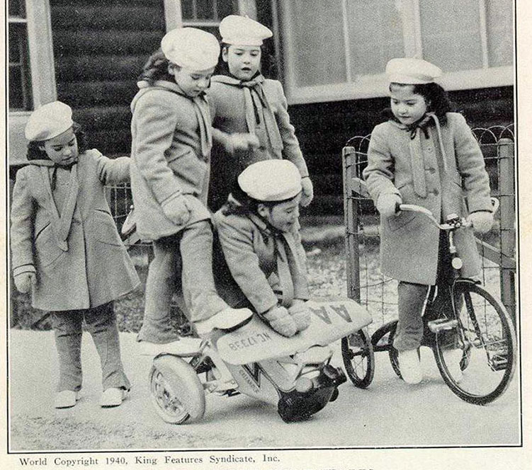 DIONNE QUINTS 1940 TRIBIKE 2