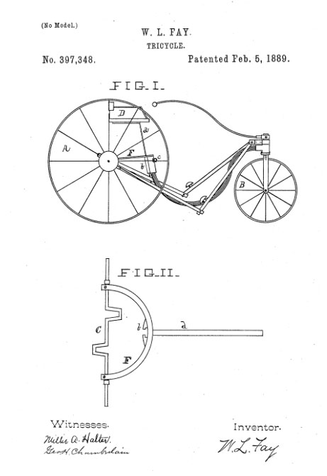 wl fay tricycle patent