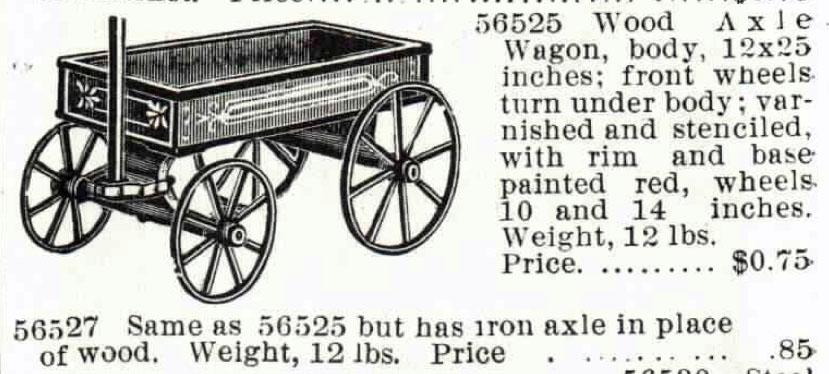 1895 Montgomery Ward catalogue boys wagons 3