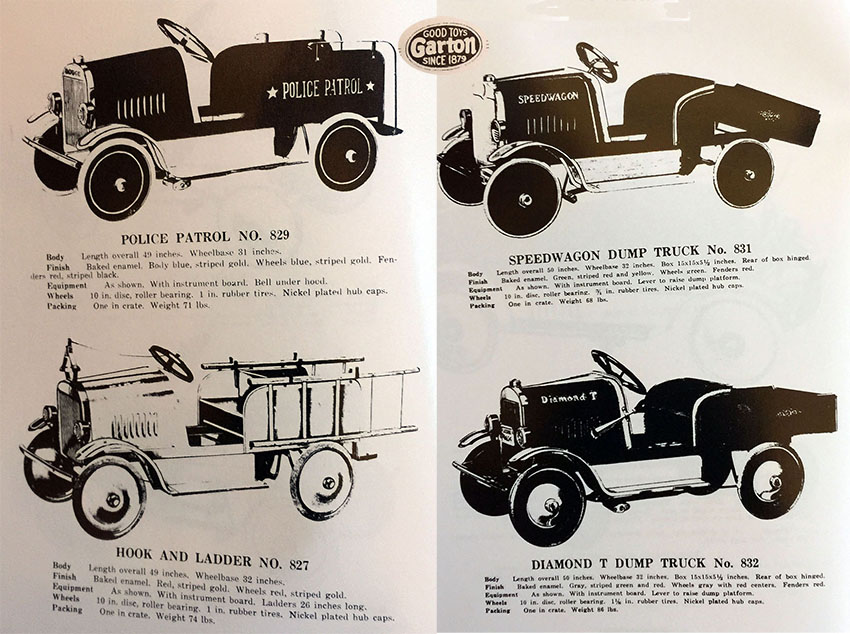 1927 garton pedal car trucks