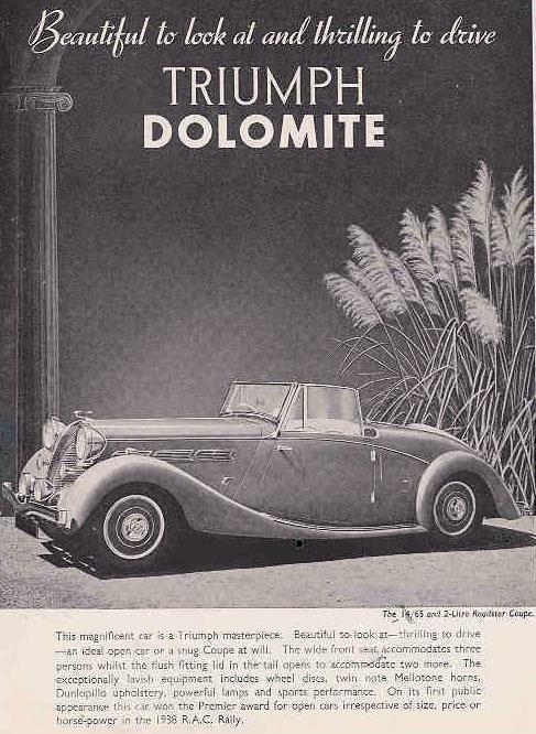 1939 triumph dolomite