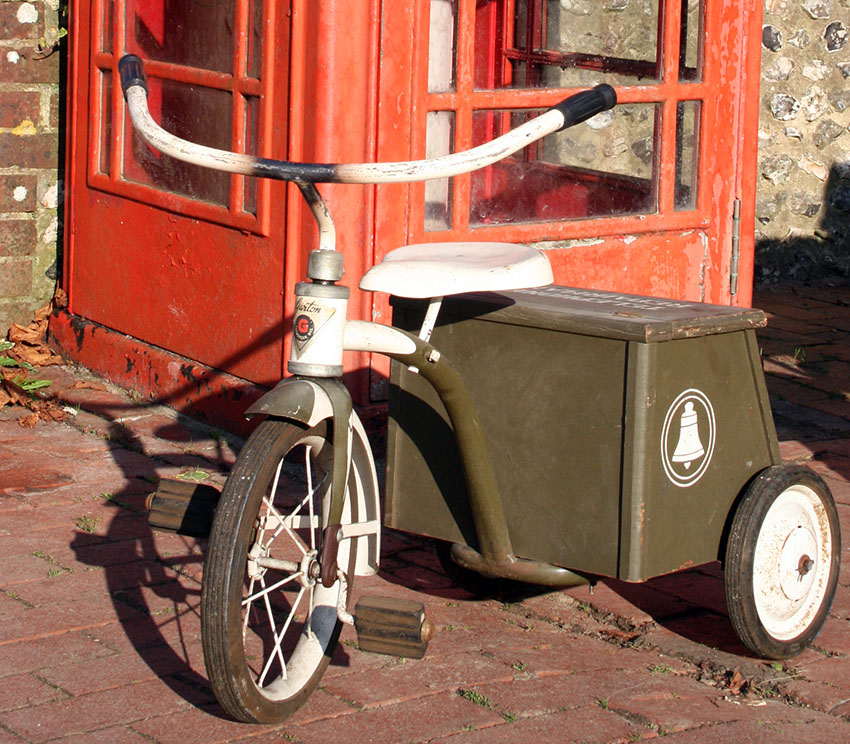 1950s GARTON Telephone Repairman Tricycle 05