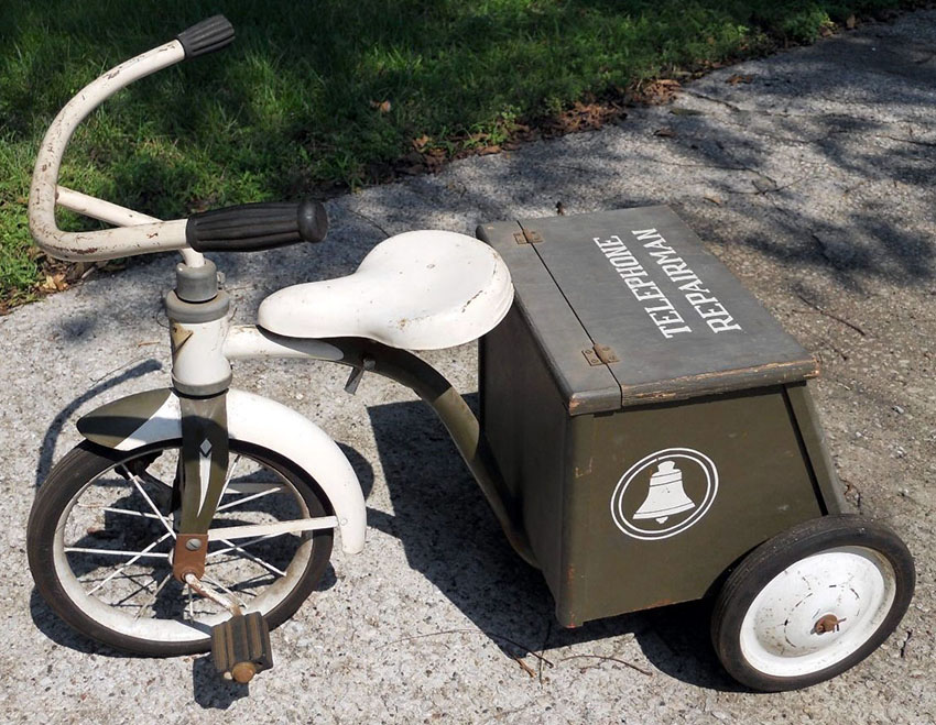 1950s Garton Telephone Repairman Tricycle 04