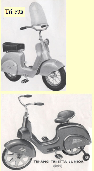 1954 Triang Trietta Pedal Scooter