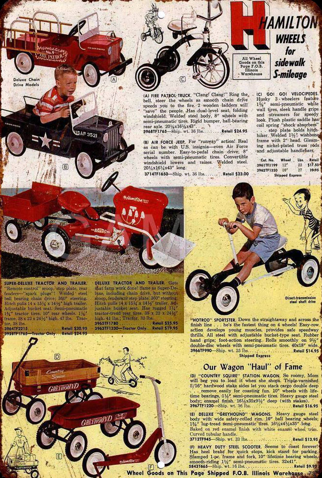 1963 hamilton pedal car advert