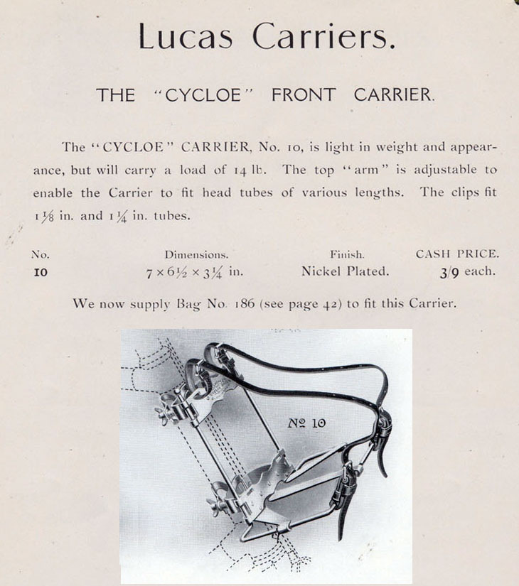lucas cycloe front carrier
