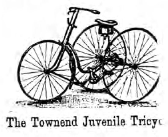 townend juvenile tricycle 1888