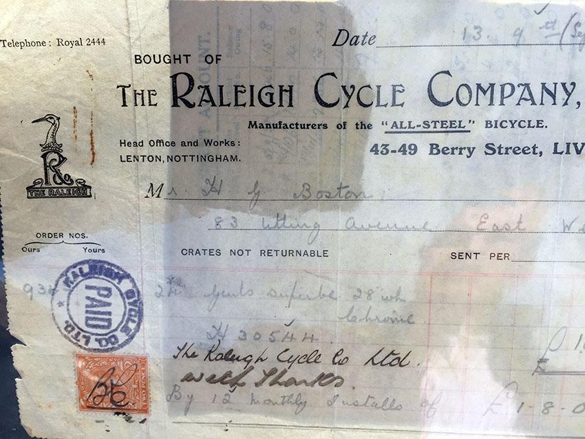 1928 Raleigh Modele Superbe X Frame