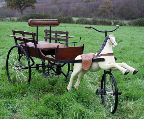 1930s tandem sulky tricycle 05