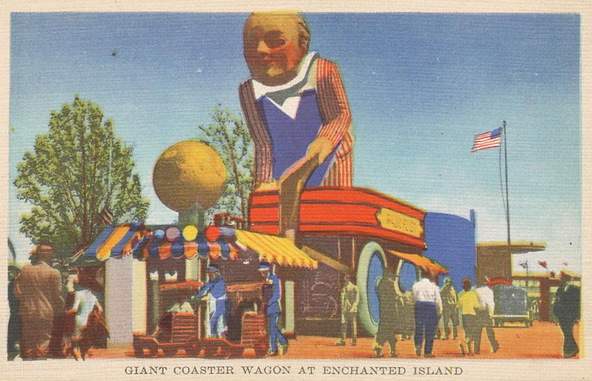 1933 & 1939 World's Fair 'Radio Flyer' Souvenir Coaster Wagons 1