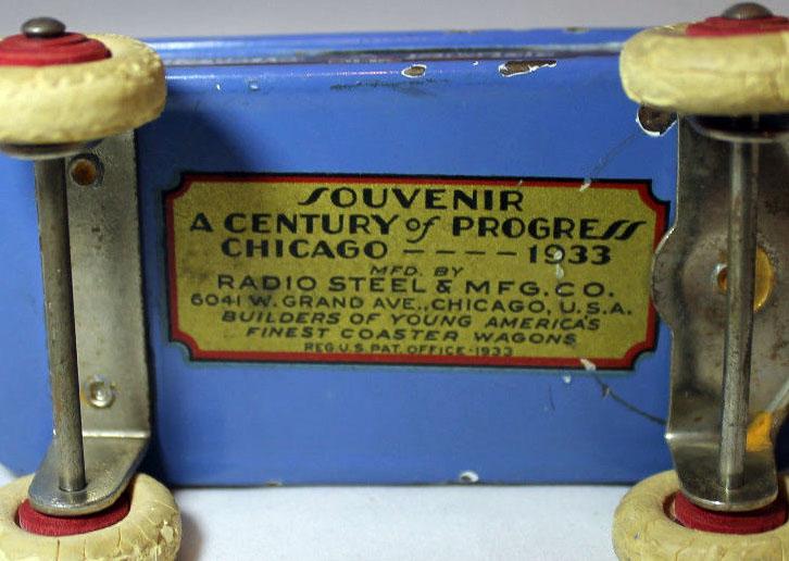 1933 Chicago World's Fair 'Radio Flyer' Souvenir Coaster Wagon 1