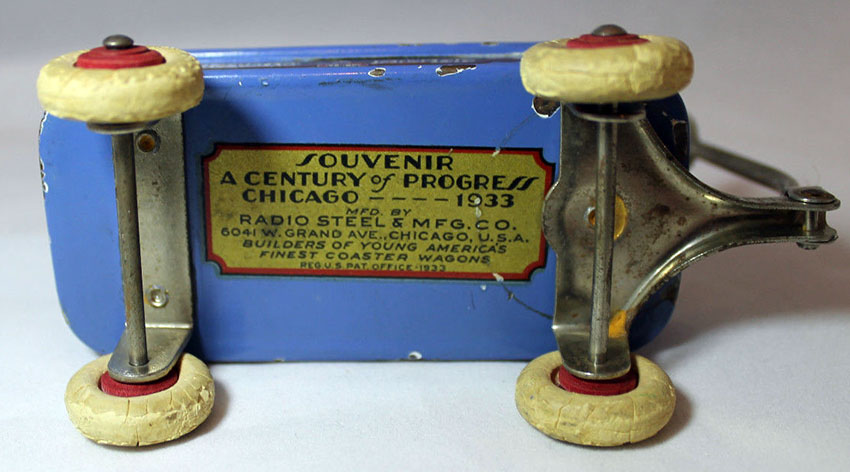 1933 Chicago World's Fair 'Radio Flyer' Souvenir Coaster Wagon 3