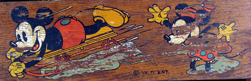 1935 MICKEY MOUSE Flexible Flyer Sled 10