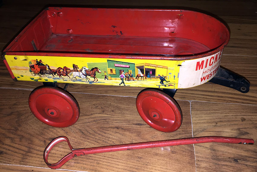 1935 Mickey Mouse Club Mouseketeer Western Prairie Wagon 03