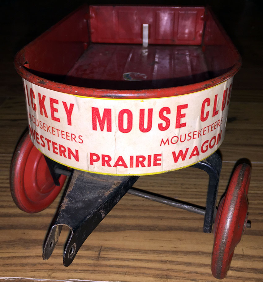 1935 Mickey Mouse Club Mouseketeer Western Prairie Wagon 04