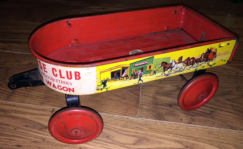 1935 Mickey Mouse Club Mouseketeer Western Prairie Wagon 5 copy