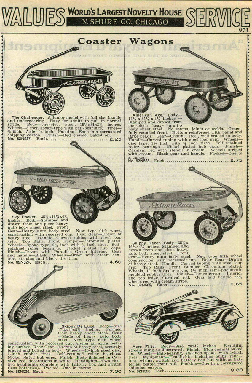 1938 skippy de luxe coaster wagons