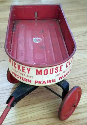1940s Mickey Mouse Club Mouseketeer Western Prairie Wagon 05