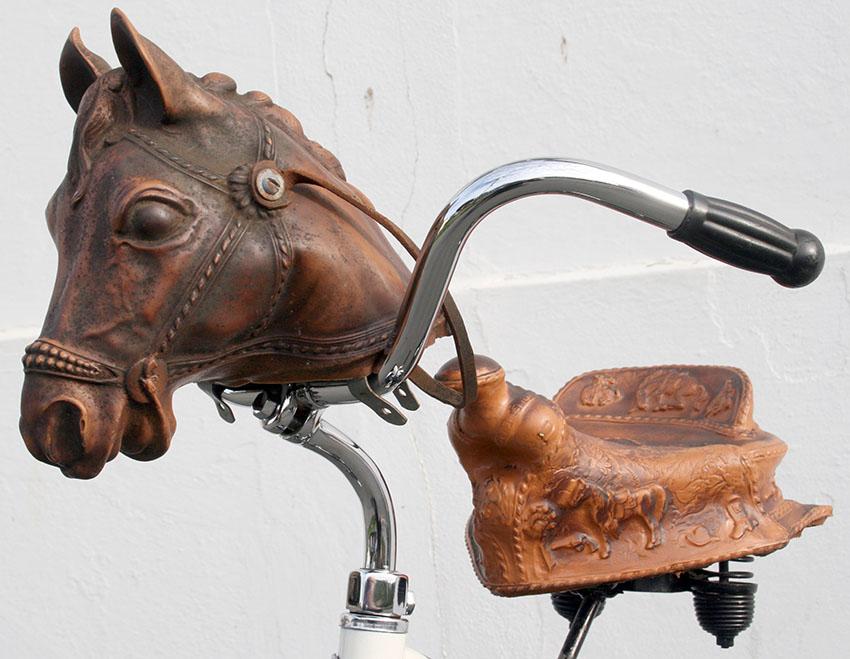 1950s Buckaroo Pinto Horse & Bronco Saddle 30