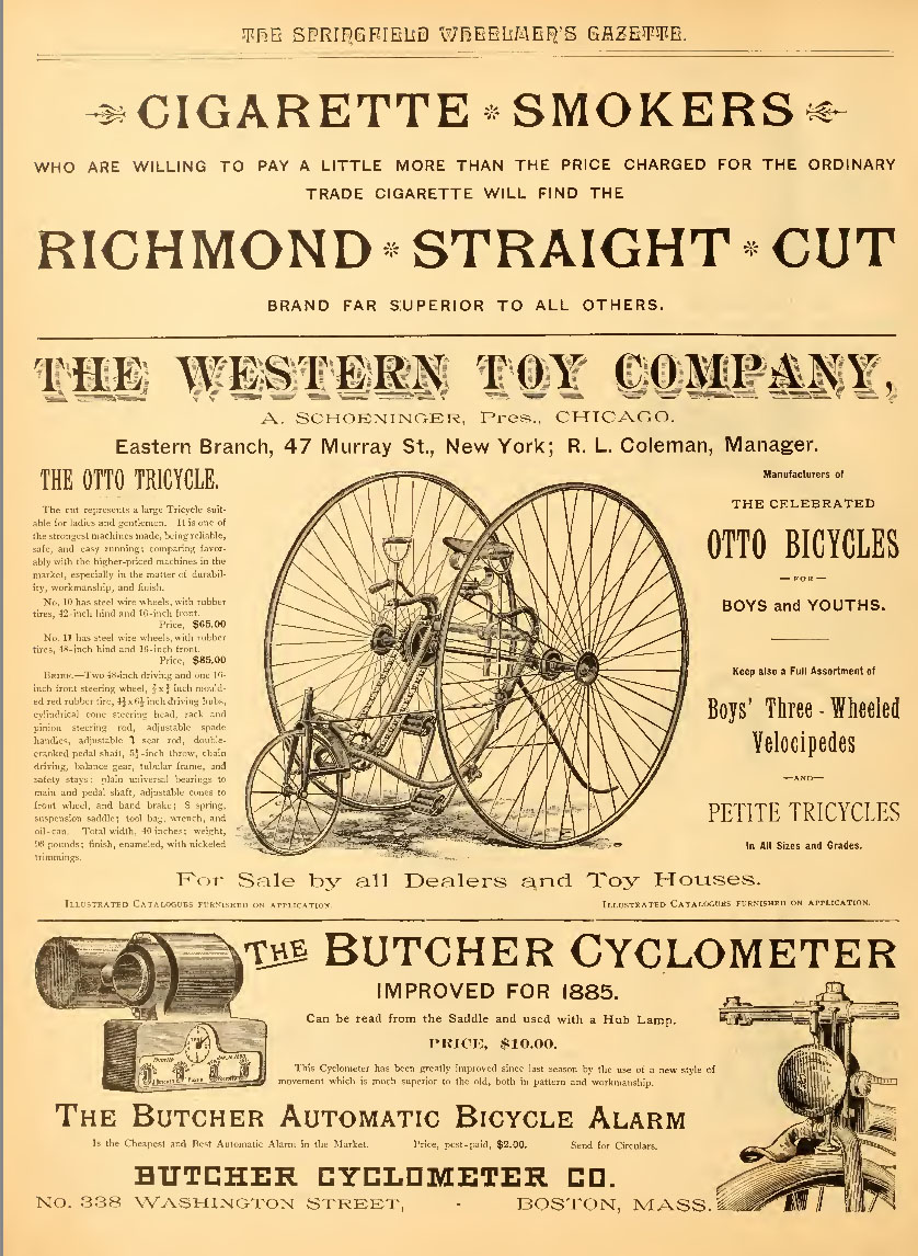 1885 Western Toy Co ad