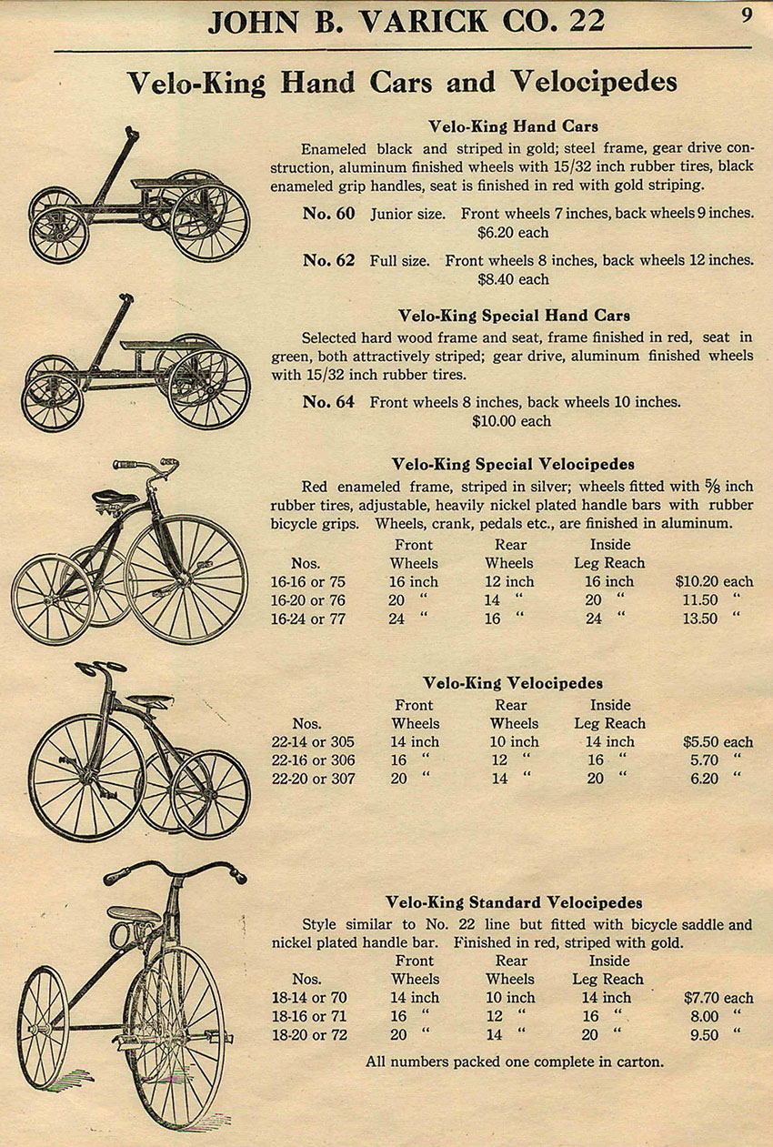 1922 velo king advert