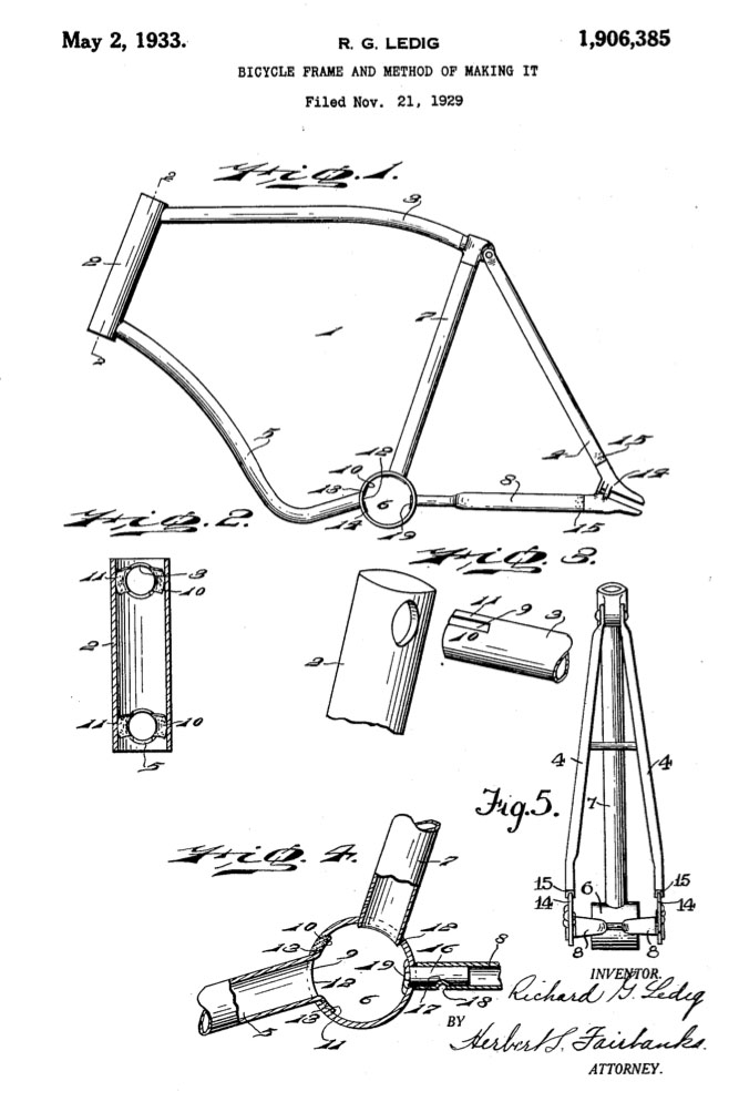 richard ledic mecky co velo king tricycle patent