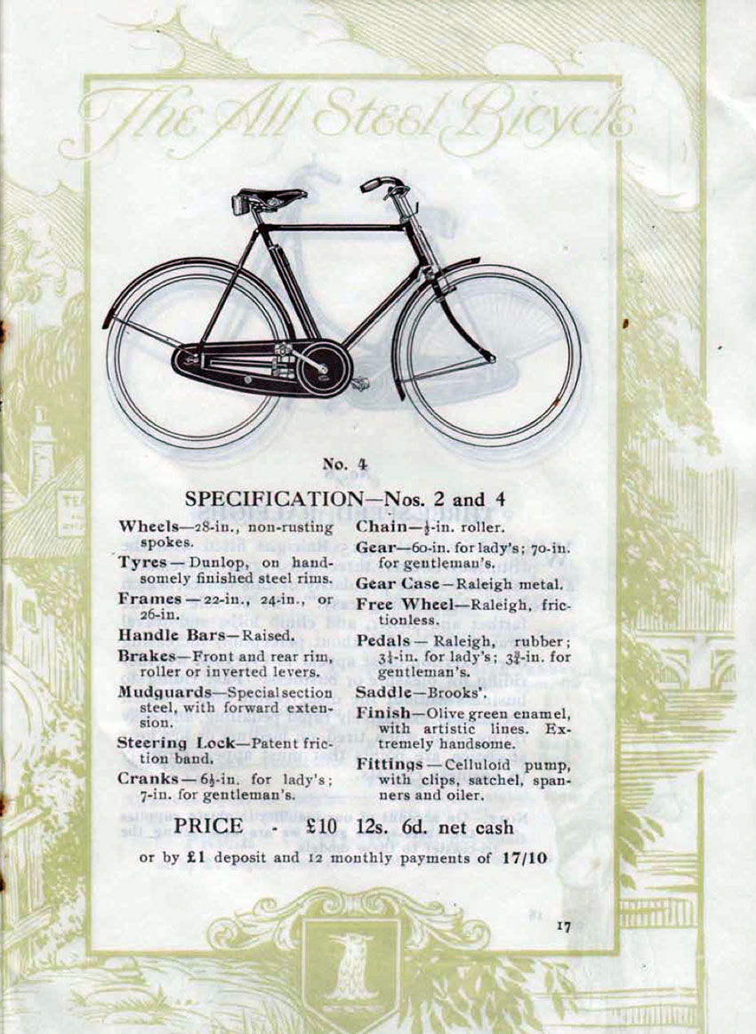 1916 raleigh catalogue
