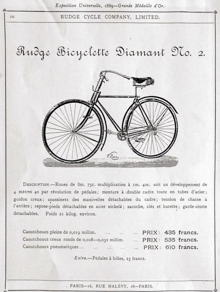 1890 Rudge Bicyclette Diamante No 2 3