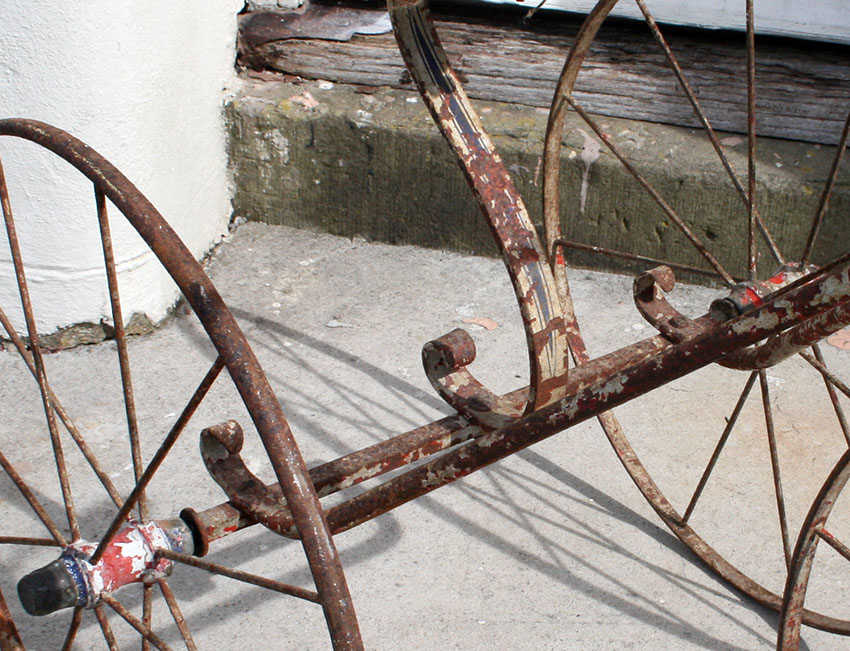 1870s Velocipede Tricycle metal 20