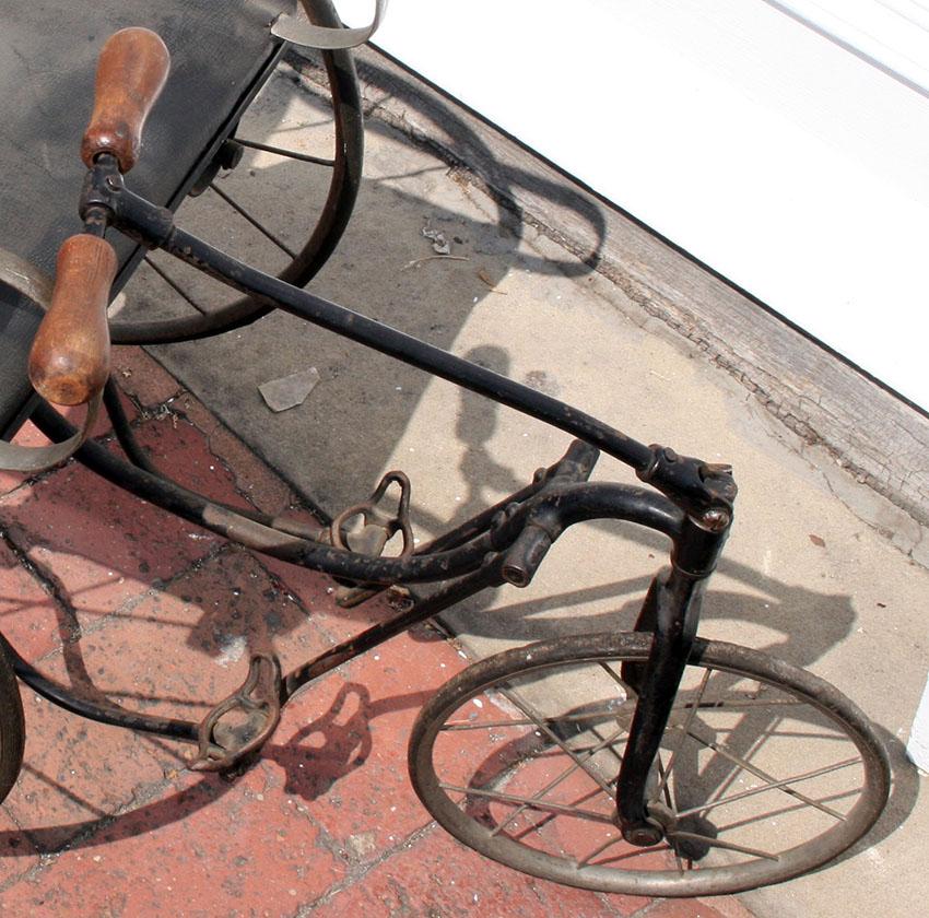 1890s Tiller & Treadle Juvenile Tricycle 08