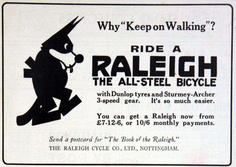 1925-felix-cat-raleigh-ad