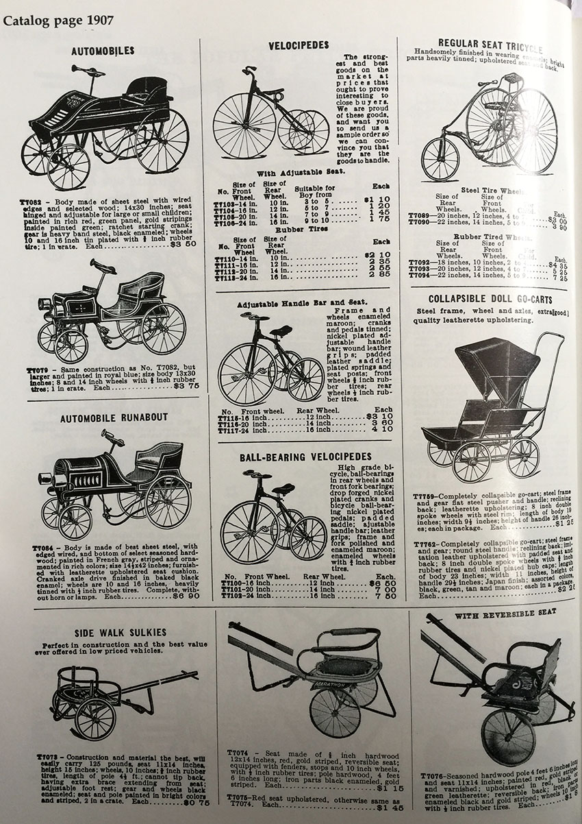 1907 Pedal Car Catalogue 2 The Online Bicycle Museum