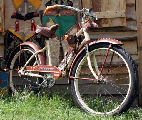 1951 Gene Autry Girls Bicycle with accessories 05