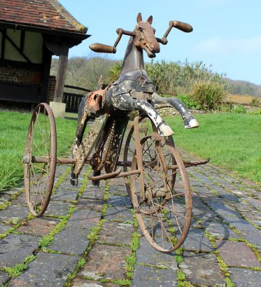 1890s French Juvenile Horse Tricycle 05