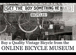 online bicycle museum VINTAGE BIKES FOR SALE copy