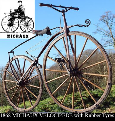 1868-Michaux-Velocipede-with-Rubber-Tyres