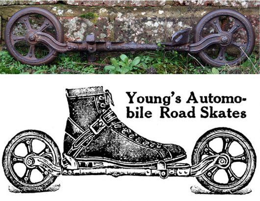 1911 Young's Automobile Road Skates