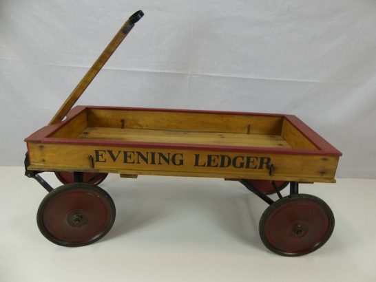 1920s-Philadelphia-Evening-Ledger-Newspaper-Delivery-Coaster-Wagon-04-1