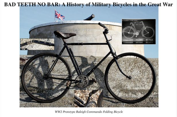 1942 Raleigh Commando Folding Military Bicycle WW2 Prototype 02