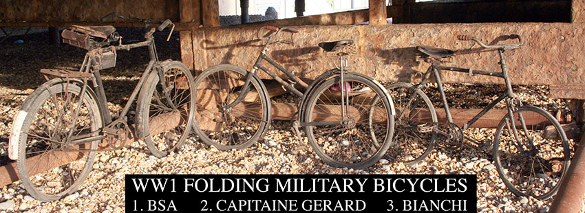 3 folding miliatary ww1 bicycles