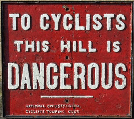 CTC DANGER SIGN OLDBIKE.EU
