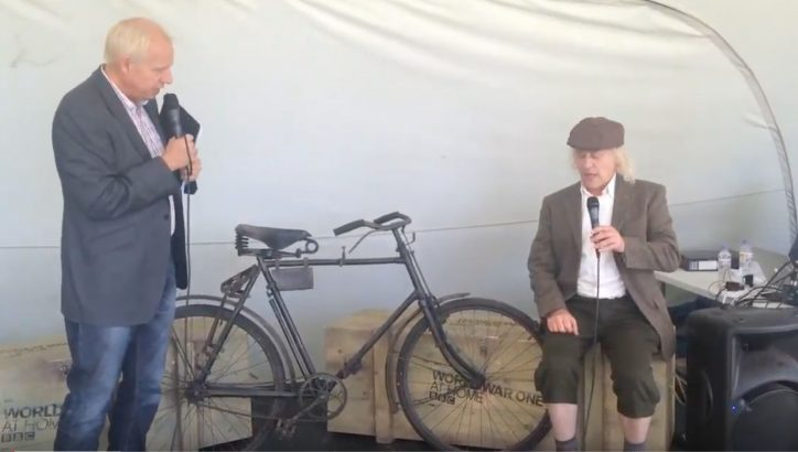 WW1 BSA FOLDING BICYCLE DEMO for the BBC
