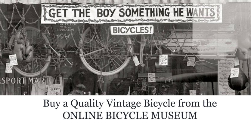 get the boy something he wants – bicycles! online bicycle museum