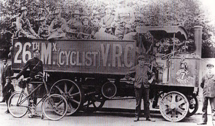 1 1908 Centaur Resilient 26TH MIDX CYCLISTS WW1